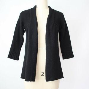 VINCE black 100% cashmere open cardigan size S
